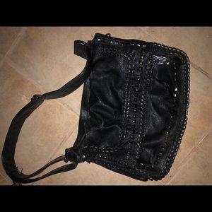 Handbags - Black leather messenger bag